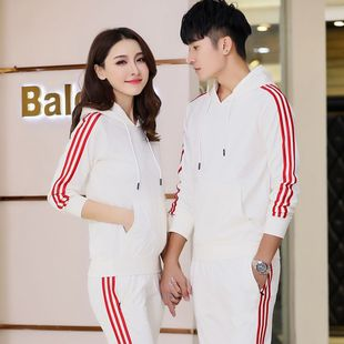 Sports suit men's spring sweater suit casual sportswear men's Korean version of the trend of couples wear spring coat clothes