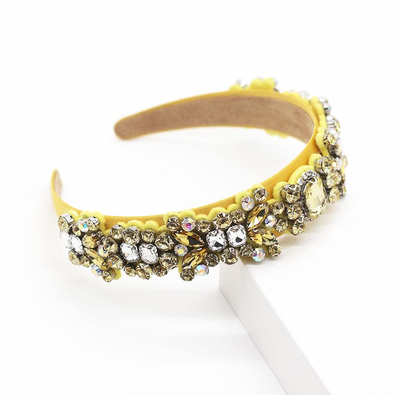 Baroque diamond color rhinestone three-dimensional hair hoop gift hair accessory suppliers china NHWJ202550