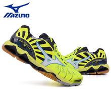 Mizuno美津浓羽毛球鞋男女情侣黄黑经典轻薄排球鞋防滑减震运动鞋