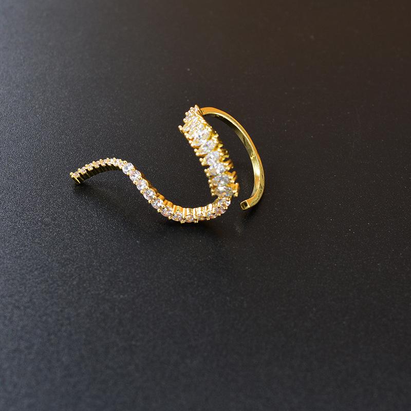 日韩时尚设计异形微镶满钻戒指包邮 金属复古锆石名媛女指环夸张