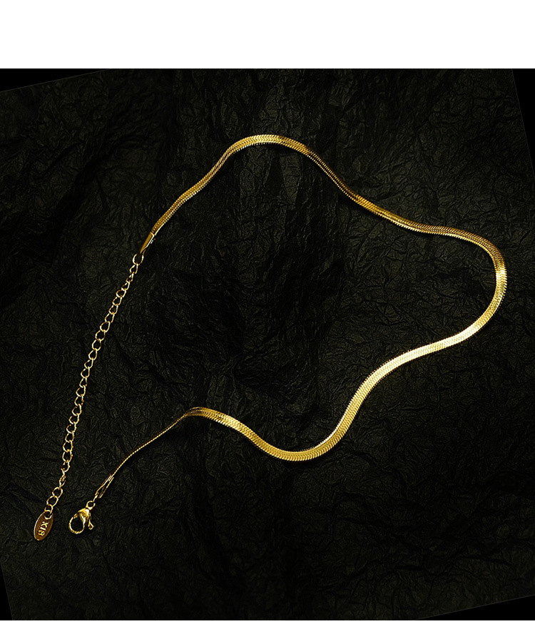 fashion blade chain clavicle necklace titanium steel material nonfading snake bone chain chain wholesale nihaojewelry NHOK235166