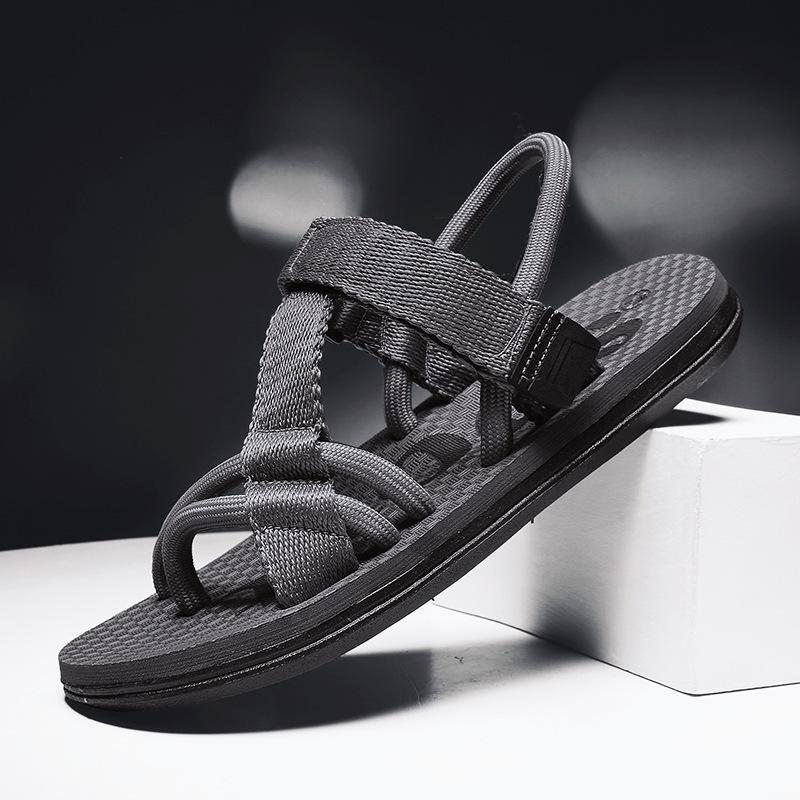 ស្បែកជើងបុរស Men Casual Sandals Woven Trend Shoes PZ504684