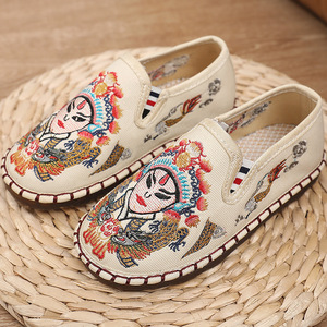 Girls Chinese folk dance hanfu embroidered shoes boys shoes, Beijing handmade shoes, thousand layer sole dance shoes, national Hanfu Clothing shoes