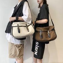 2020新款女生休闲帆布单肩包厂家批发复古时尚斜挎包男学生邮差包