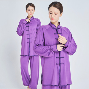 Kung fu tai chi clothing for men outdoor morning exercise clothes long sleeve martial arts wushu training clothes