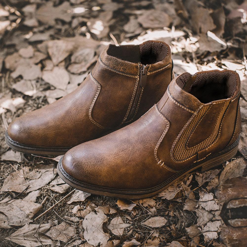 Men's Work Clothes Shoes Men's Short Leather Martin's Boots