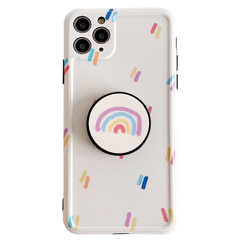 Simple rainbow stand mobile phone case for iPhone 8p 7p XR SE2 wholesale NHFI239884