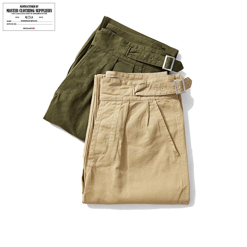 新品 英军廓尔格卡其休闲裤男士宽松长裤Gurkha百慕大裤