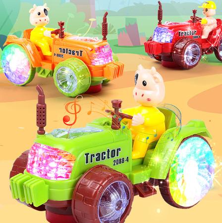 2021牛年玩具网红新款 电动万向车 拖拉机 工厂自产地摊玩具批发