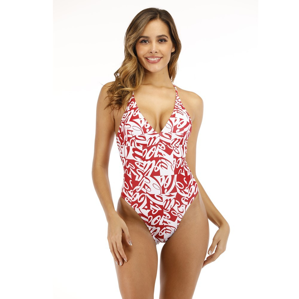 New One-piece Printed Swimsuit Wholesale Backless Swimsuit One Piece NHHL203291