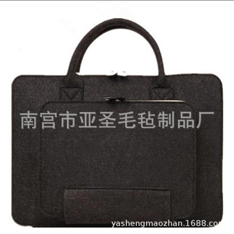 厂家直供 新款创意毛毡包 斜挎毛毡包 电脑包韩版休闲毛毡包