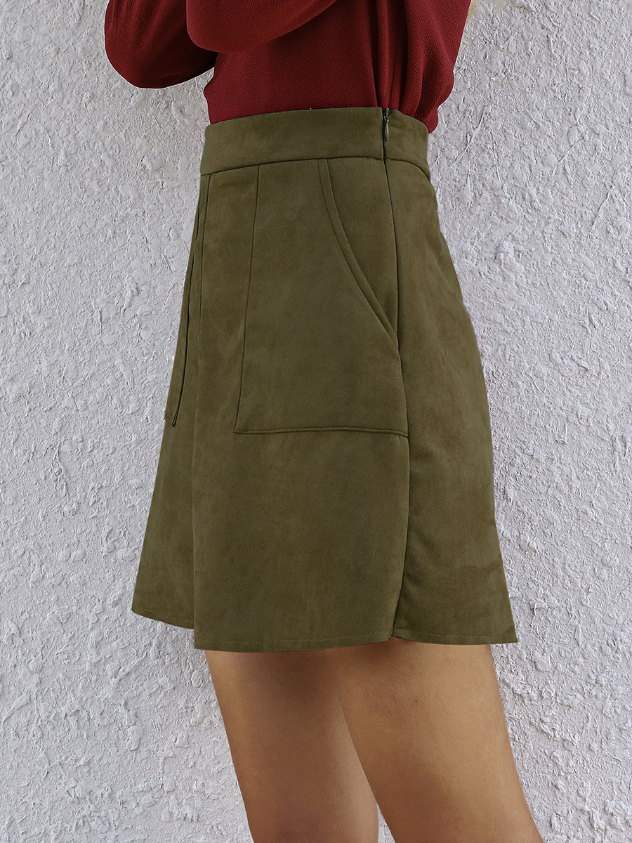 Hot Selling Pure Color Women's Skirt New Fashion Original Design Slim-fit Hip Skirt NSAL1956