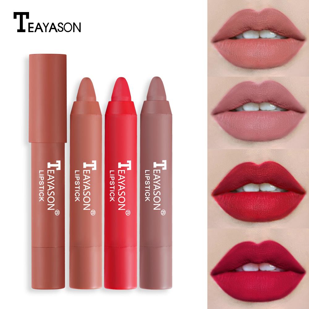 Cross-border matte matte lipstick color...