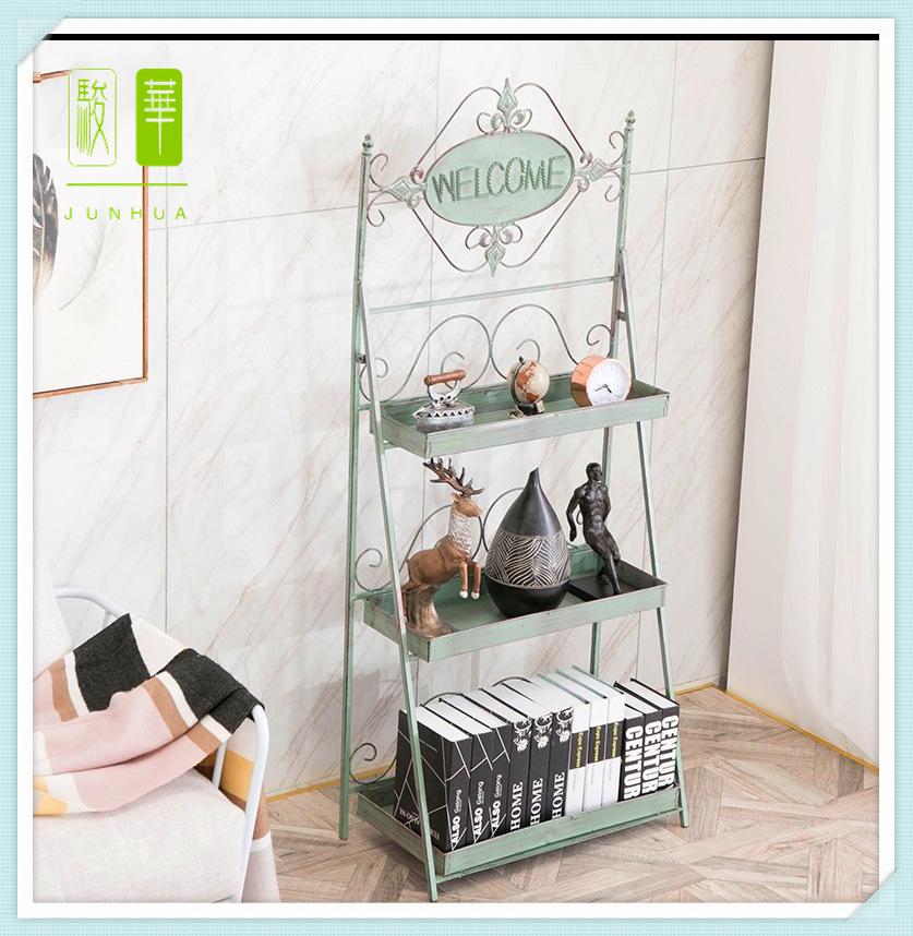 欧式复古多层置物架铁艺多肉盆栽植物花架置阳台装饰收纳展示架