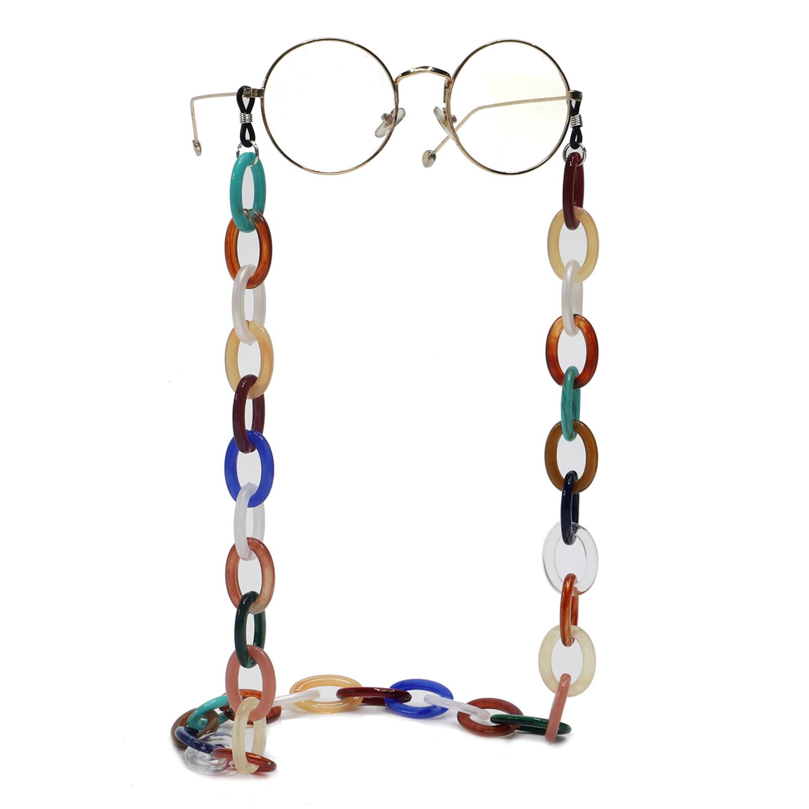 Resin acrylic plastic multicolor simple fashion glasses chain non-slip glasses rope wholesale nihaojewelry NHBC239798