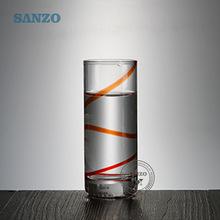 700918  90ml小玻璃杯高脚小白酒杯套装一口杯小号酒盅烈酒杯