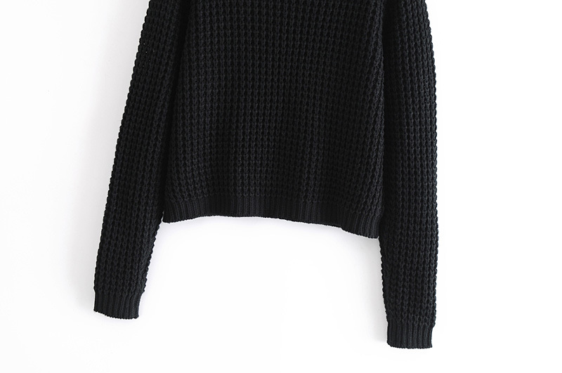 black butterfly soft round neck knitted thin sweater coat  NSAM3245