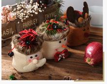 热销圣诞卡通苹果袋 卡通?#20808;?#31036;物袋 儿童糖果袋收纳袋礼品袋