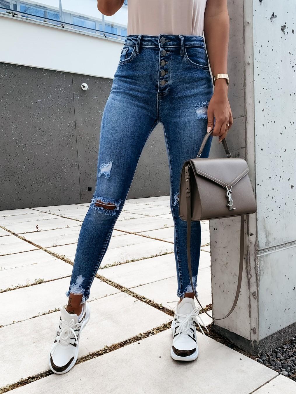 fashion slim slimming ripped denim trousers NSYF3623