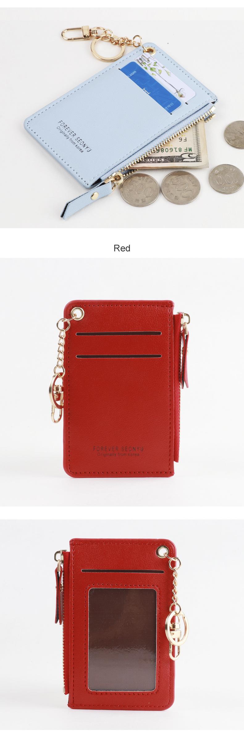 Fashion korean short card zipper cute card holder coin bag zipper card holder coin purse girl wallet wholesale nihaojewelry NHBN237980
