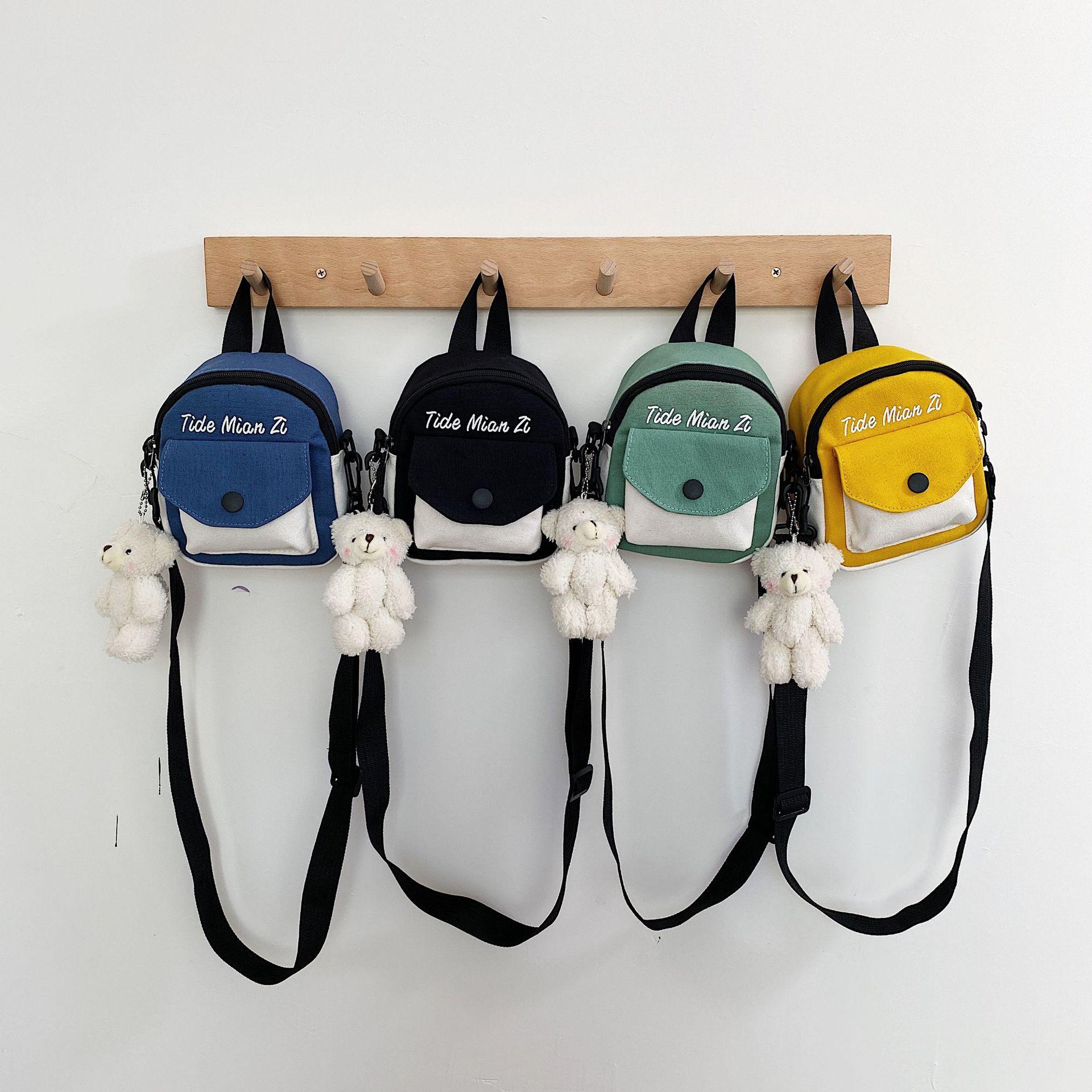 2020 الشتاء الجديدة حقيبة قماش اليابانية الإضافية اللون ضرب حقيبة صغيرة جرلي الرعوية الأدبية الصغيرة الطازجة ستايجلايت