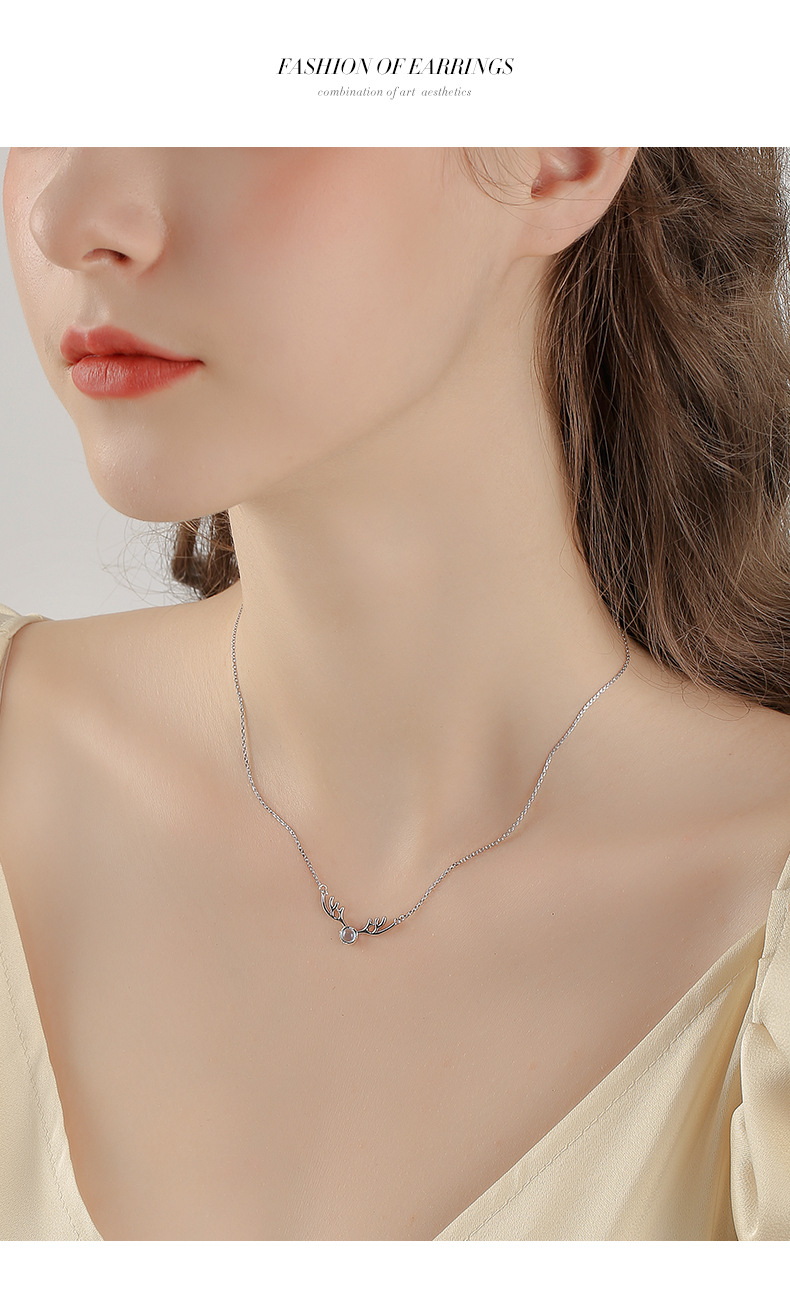 925 silver chain necklace new fashion sexy clavicle chain wholesale nihaojewelry NHPP228147