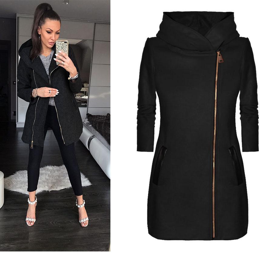 fashion side zipper plus fleece jacket hooded jacket sweater  NSYF1841