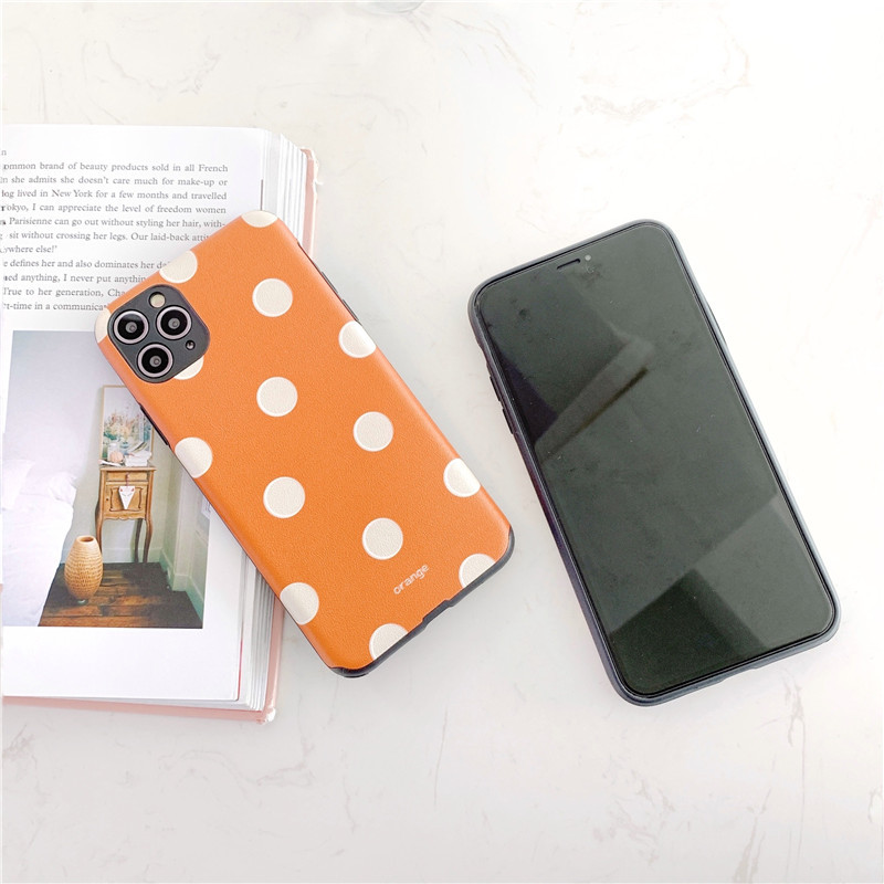 Simple wave dot mobile phone case for Apple 11Pro iPhone8 7plusX XR silk pattern phone case wholesale  NHFI237463