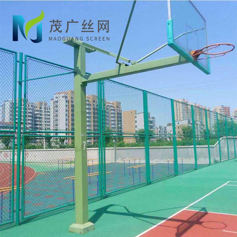 篮球场球场体育场围网 绿色菱形勾花蓝球场围网 笼式足球场围栏网