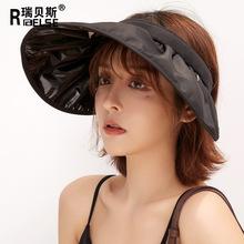 帽子女韩版百搭防晒遮脸太阳帽潮网红发箍帽防紫外线遮阳空顶帽子