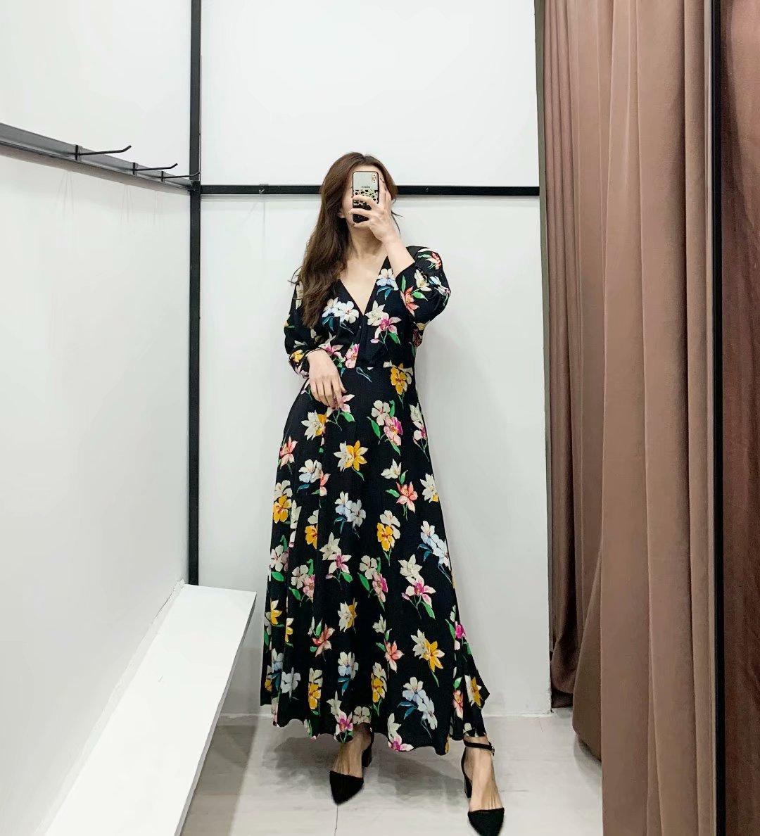 Fashion women's dress new fashion flower print dress wholesale NHAM200176