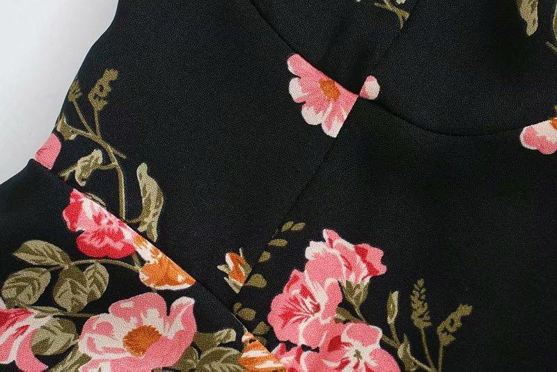 Bowknot Lace Waist Thinning Retro Dress  NSAM4226