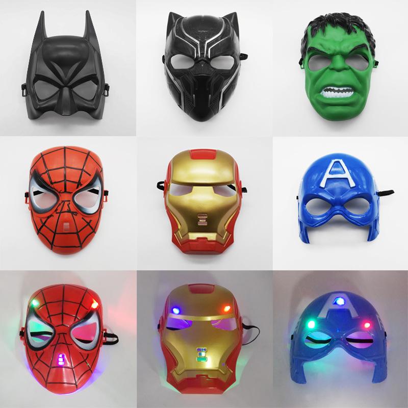 复仇者联盟面具美国队长绿巨人蜘蛛侠 钢铁侠面具舞会表演道具