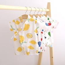 婴儿夏装日式和服连体衣日系哈衣纯棉短袖和尚服爬服童装宝宝衣服