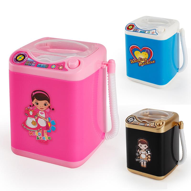 跨境迷你小家电玩具沥水篮洗衣机儿童过家家自动甩干机脱水机