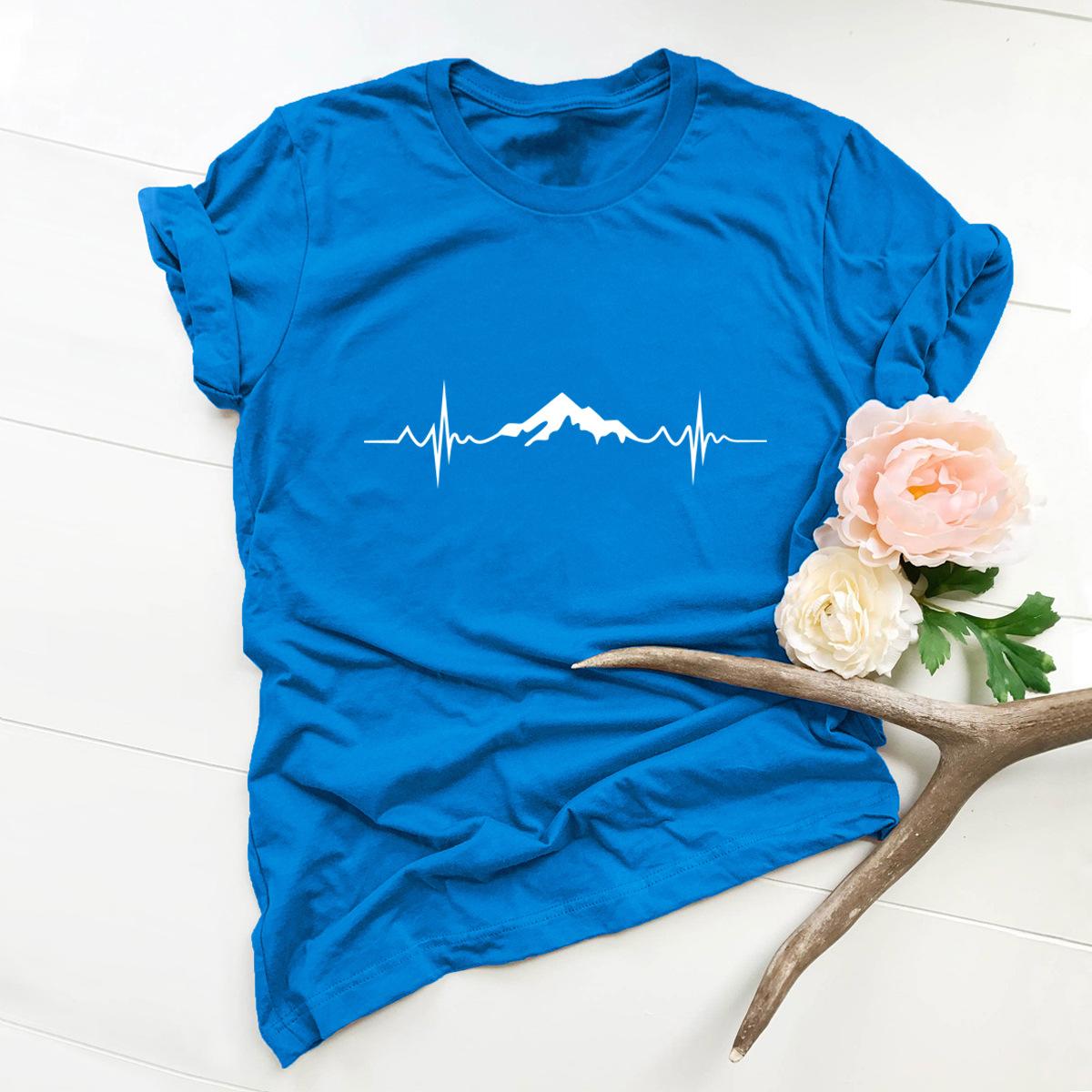 printing cotton short-sleeved t-shirt women NSSN2681