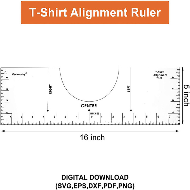 T Shirt Alignment Tool Ruler Centering Tool Htv Alignment Ruler Guide Kit Ebay