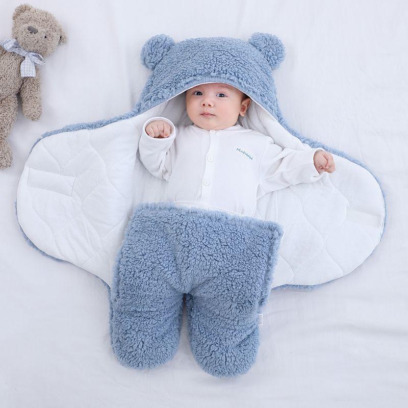 Baby Sleeping Bag Ultra-Soft Fluffy Fleece Newborn