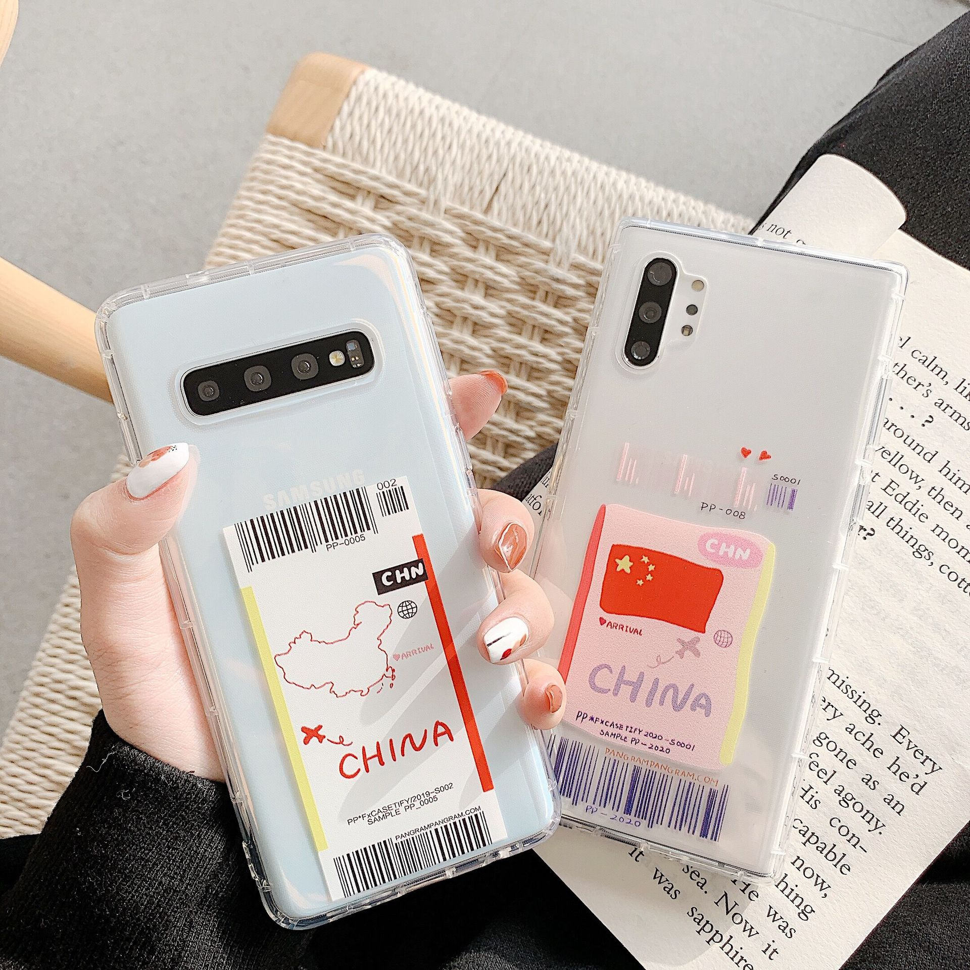 Stripe code Samsung note10 mobile phone case s8plus map ticket s9/s10 soft case note8 phone case NHHC196838