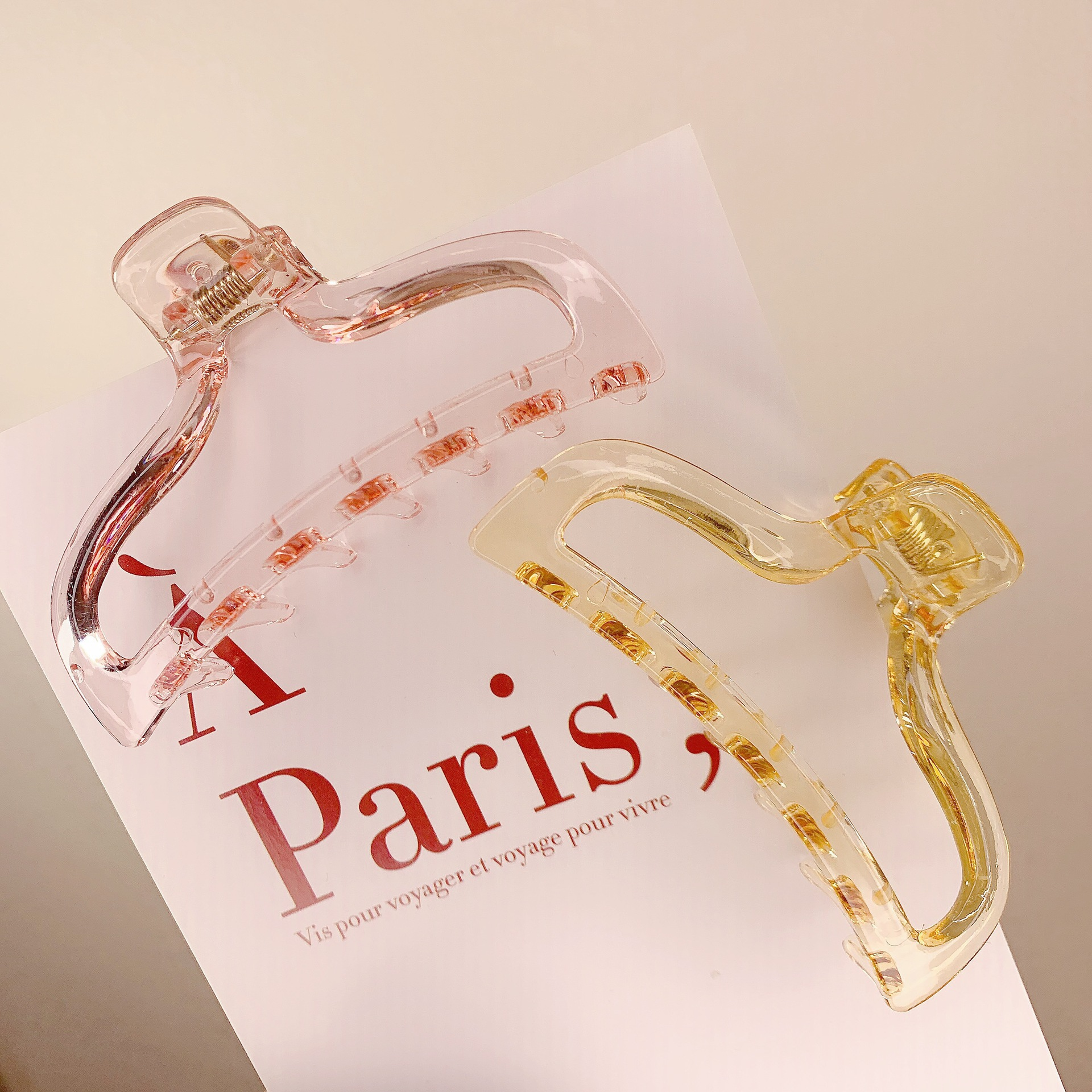 transparent catching clip bathing plate hair constantly catching big hairpin wholesale NHDM249705