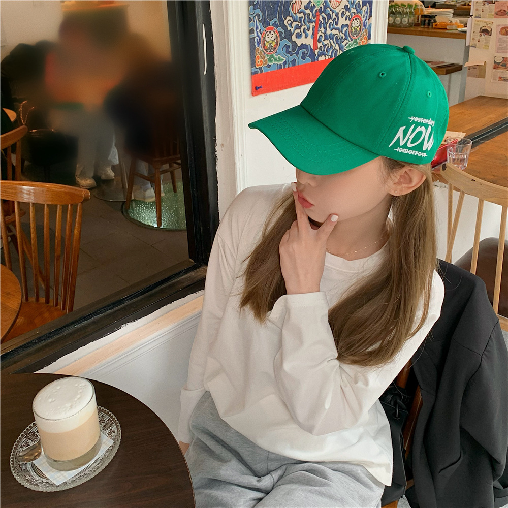 spring and summer green wild letter cap NSCM10093