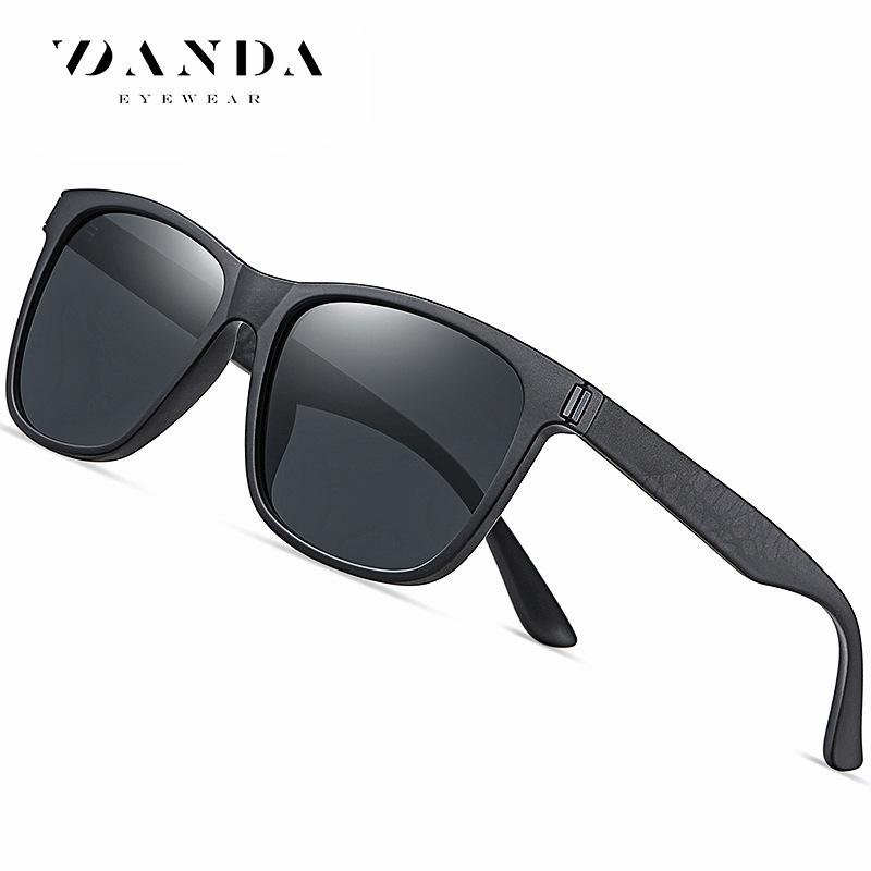 新款韩版黑色墨镜TR3387欧美方框偏光太阳镜 跨境时尚男士太阳镜