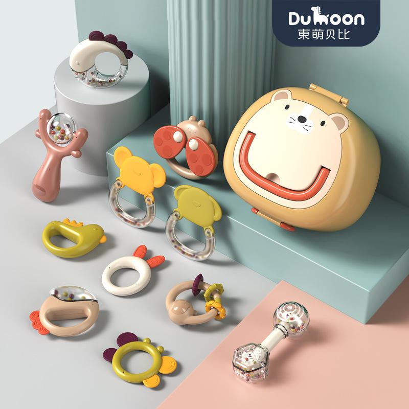 跨境新生婴儿玩具初生摇铃可咬6到12个月小宝宝抓握0-1岁早教益智