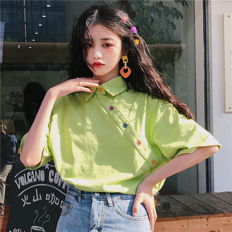 韩版女装宽松短袖T恤女学生2020夏季港风中长款网红ins潮半袖上衣