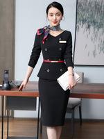 2021春季厂家职业套装珠宝店女美容师前台职业美容院工作服
