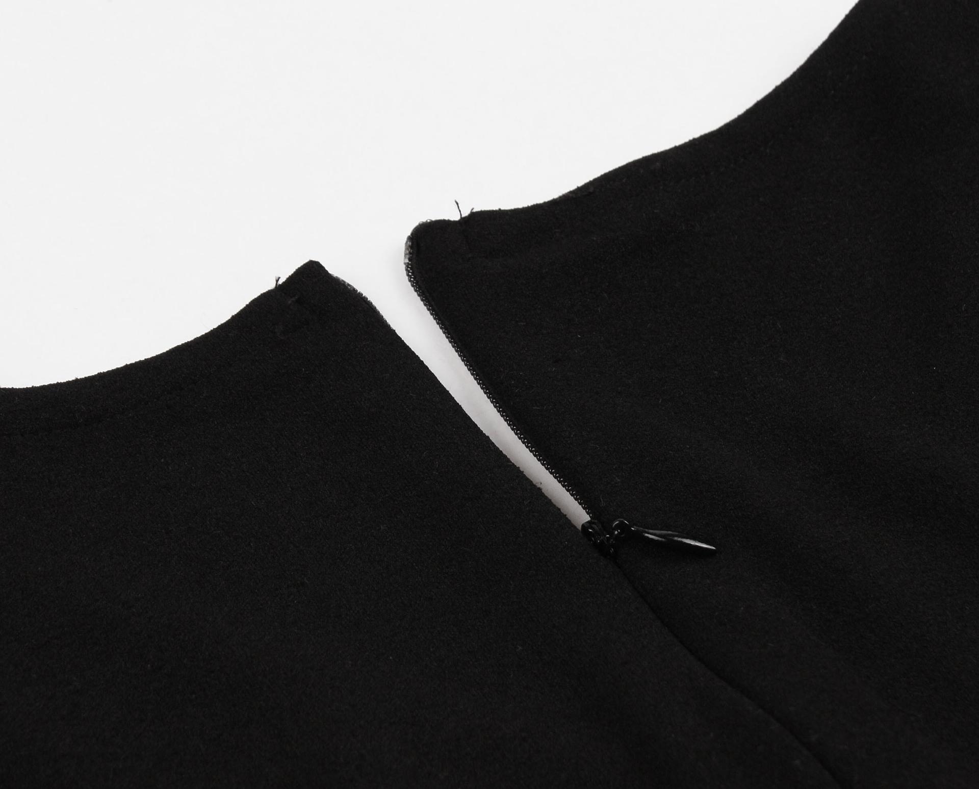 women's V-neck contrast dress nihaostyles clothing wholesale NSMXN78865