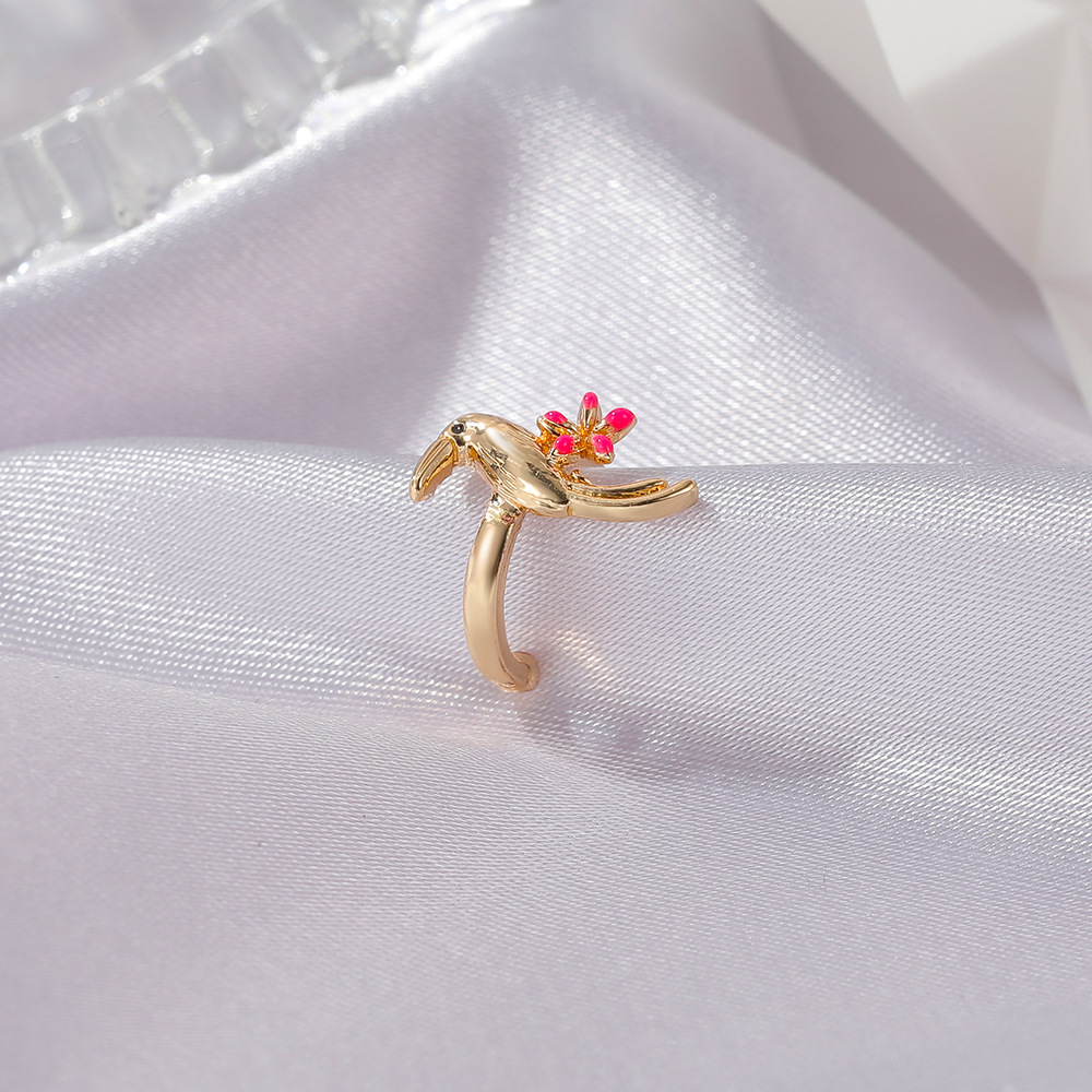 fashion simple flower bird ear clip retro no pierced bird ear bone clip  NHDP265581