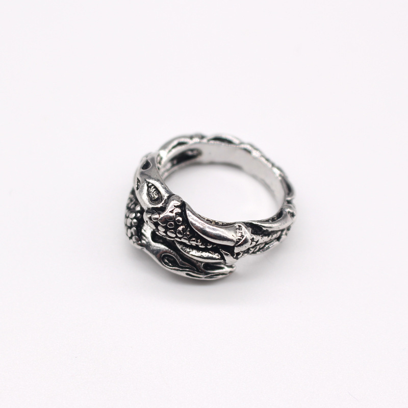 new trend personality retro punk animal eagle claw ring men's ring hot sale wholesale nihaojewelry NHGO221009