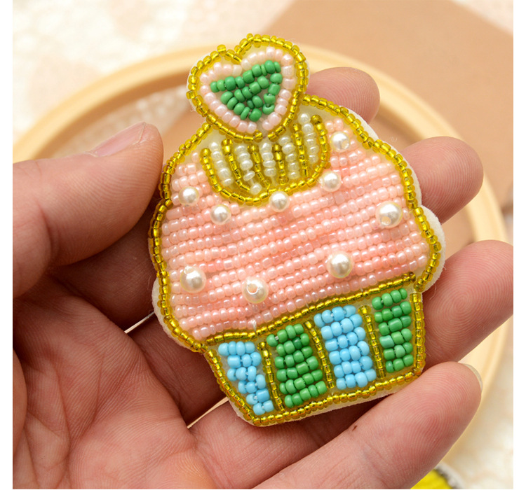 Hand-made beaded pearl cake clothes patch stickers accessories decals NHNK243770