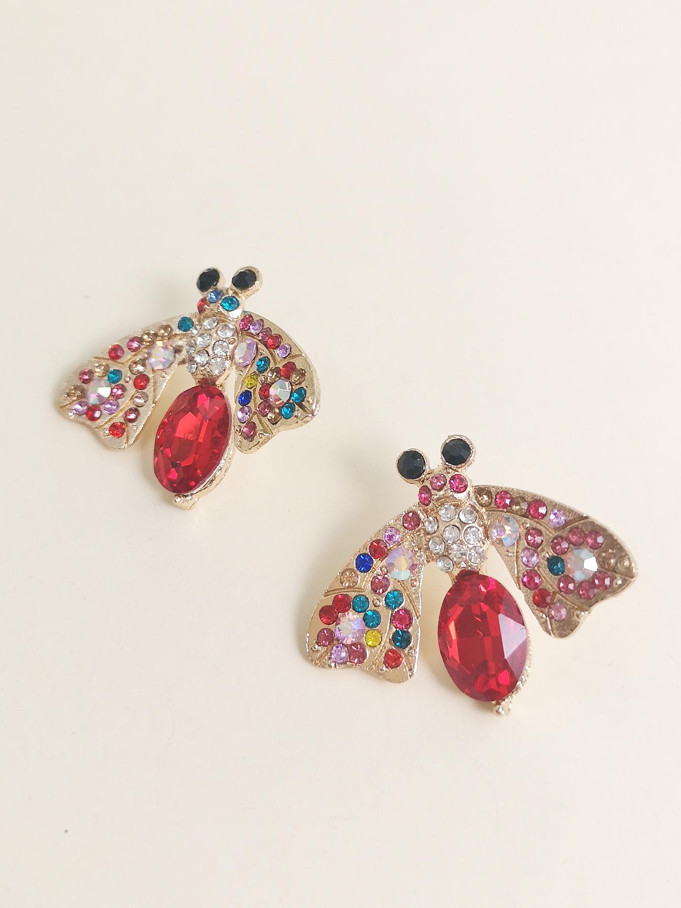 new fashion  insect color diamond earrings  nihaojewelry wholesale NHJJ215094